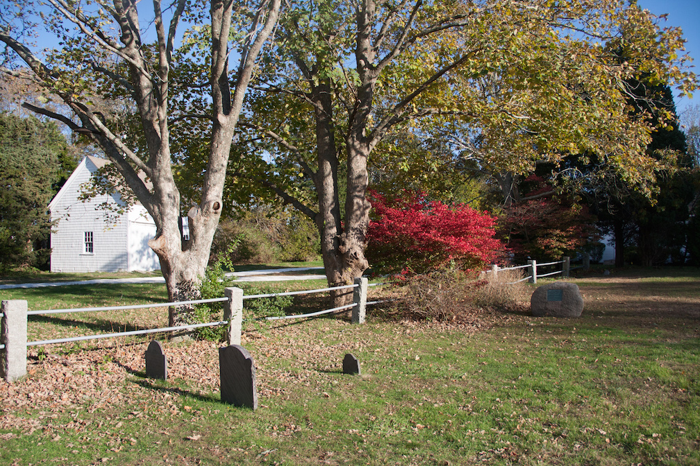 Several Mayflower passengers are buried in the Cove Burying Ground in Eastham.