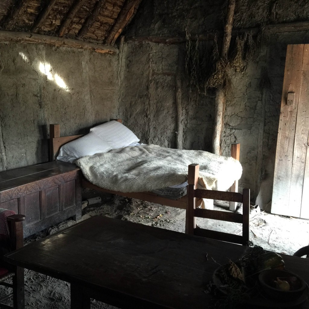 Typical one room dwelling in 1627 Plimoth village.