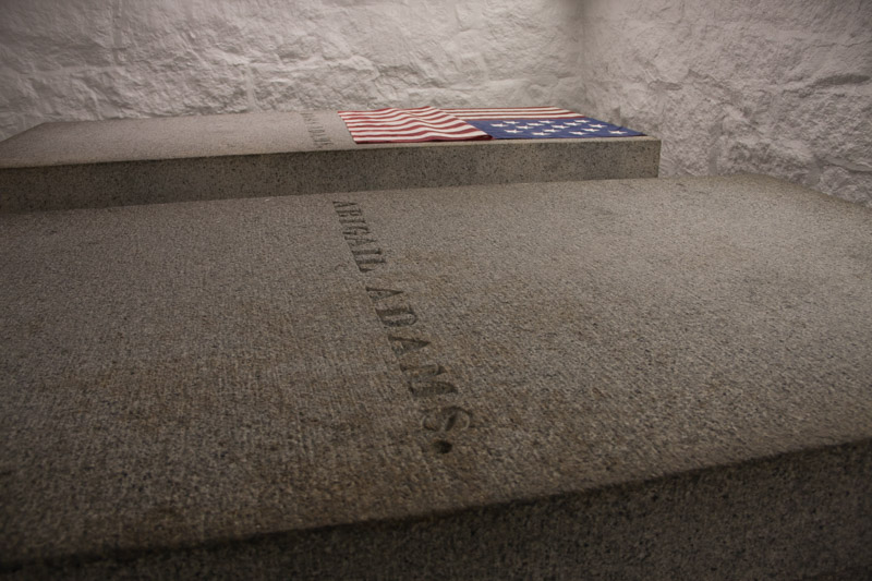 The tombs of John and Abigail Adams